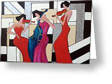 Lady Musicians Greeting Card