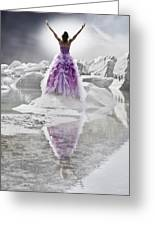 Lady On The Rocks Greeting Card by Joana Kruse