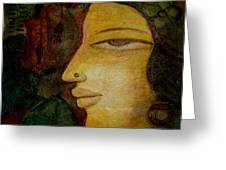 Lady's Face Greeting Card