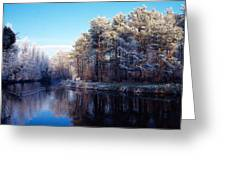 Lagan Meadows During Winter, Belfast Greeting Card