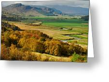Laggan Autumn - The Clan Mcphersons Seat Greeting Card by John Kelly