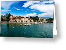 Lago Di Garda In Italy In Early Spring  Greeting Card