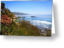 Laguna Beach California Coastline Greeting Card