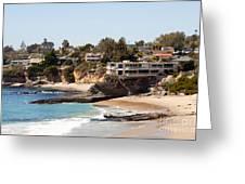 Laguna Beach Waterfront Homes Greeting Card