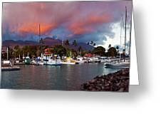 Lahaina Harbor Greeting Card