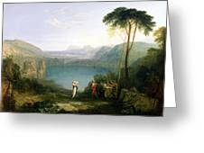 Lake Avernus - Aeneas And The Cumaean Sibyl Greeting Card