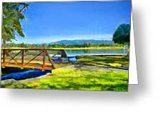 Lake Balboa Bridge Greeting Card