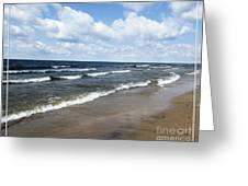 Lake Erie At Evangola State Park Greeting Card