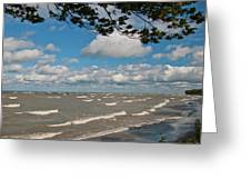Lake Erie Storm 2371 Greeting Card
