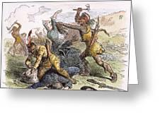 Lake George: Massacre, 1757 Greeting Card