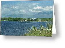 Lake Hood Anchorage Alaska Greeting Card