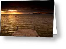 Lake Huron Dock Greeting Card