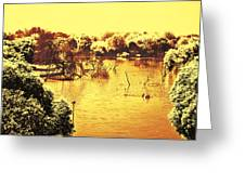 Lake In India Greeting Card