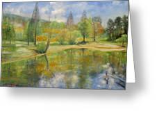 Lake In Springtime. Greeting Card by Max Mckenzie