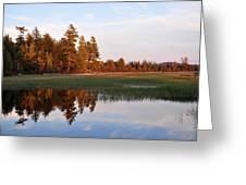 Lake Lila Sunset Greeting Card