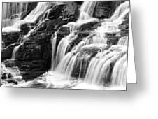 Lake Mcdonald Falls Glacier National Park Greeting Card