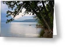 Lake Mcdonald Glacier National Park Montana Greeting Card