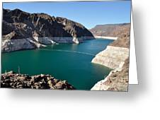 Lake Mead By Hoover Dam Greeting Card