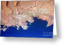 Lake Mead Shores Nv Planet Earth Greeting Card