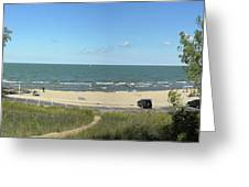 Lake Michigan From The Michigan State Side Greeting Card