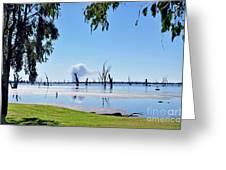 Lake Of The Black Stumps.. Tree Framed Greeting Card