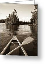 Lake Of The Woods, Ontario, Canada Boat Greeting Card