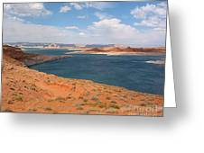 Lake Powell Landscape Panorama Greeting Card