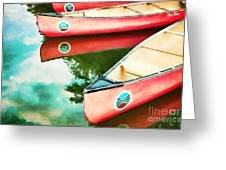 Lake Reflections Greeting Card by Darren Fisher