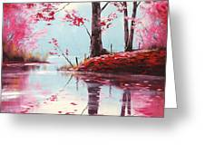 Lake Reflections Greeting Card by Graham Gercken