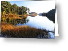 Lake Reflections In Acadia Greeting Card