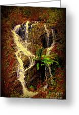 Lake Shasta Waterfall 3 Greeting Card by Garnett  Jaeger
