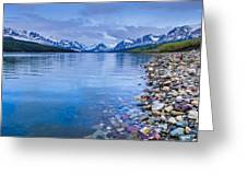 Lake Sherburne Shoreline Greeting Card