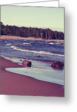 Lake Superior Beach Waves  Greeting Card