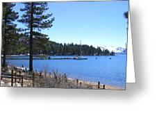 Lake Tahoe Dock Greeting Card