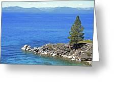 Lake Tahoe Rocky Point Greeting Card