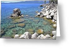 Lake Tahoe Shore Greeting Card