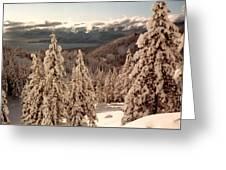 Lake Tahoe Snow Greeting Card