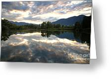 Lake With Clouds Greeting Card