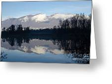 Lake With Mountain Greeting Card