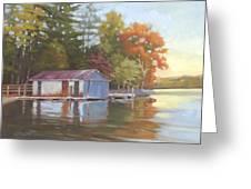 Lake Wylie Boathouse Greeting Card