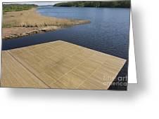 Lakeside Dock Greeting Card