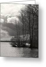 Lakeside Storm Passing Greeting Card