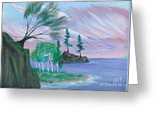 Lakeside Symphony Greeting Card by Robert Meszaros