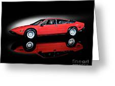 Lamborghini Urraco 1972 Greeting Card