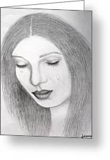 Lamenting Soul Greeting Card by Rejeena Niaz