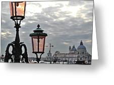 Lamp At Venice Greeting Card