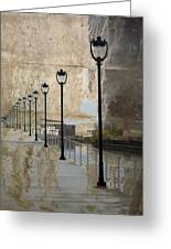 Lamp Posts And Concrete Greeting Card