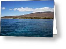Lanai Coastline Greeting Card