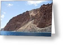 Lanais Coastline Cliffs Greeting Card