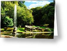 Lancaster Fountain Greeting Card